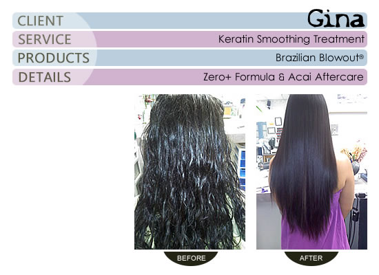 Gina - Brazilian Blowout® Smoothing Treatment