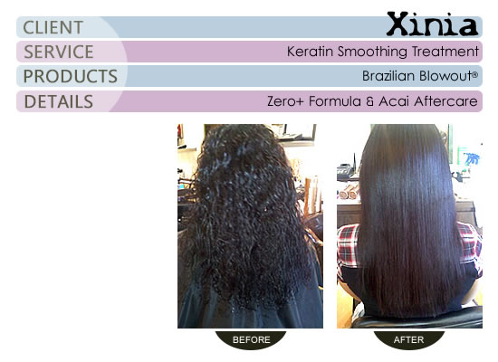 I used Zero+ Formula and Acai Aftercare Line w/Xinia